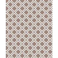Brown Lattice Printed Backdrop