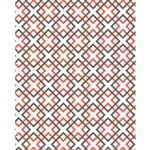Layered Squares Patterned Printed Backdrop