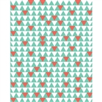 Green Triangles Patterned Printed Backdrop