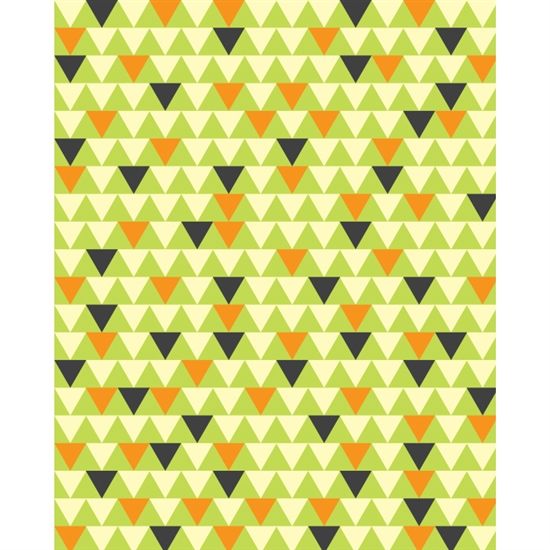 Yellow & Black Triangles Patterned Printed Backdrop