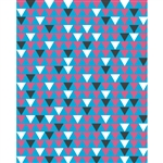 Pink & Blue Triangles Patterned Printed Backdrop