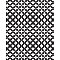 Black & White Geometric Printed Backdrop