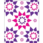 Pink & Purple Sunburst Printed Backdrops