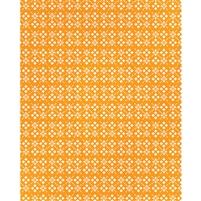 Orange Flowers & Diamonds Printed Backdrop