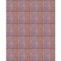 Elegant Orange Tiles Printed Backdrop