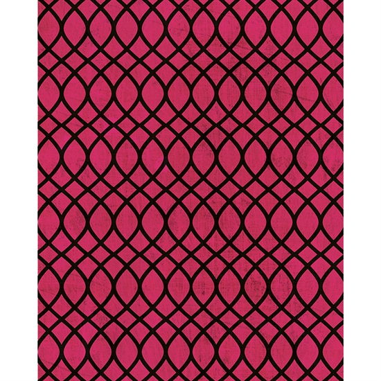 Pink and Black Waves Printed Backdrop