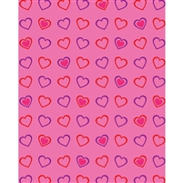 Dancing Hearts Printed Backdrop