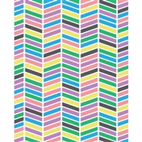 Multicolor Chevron Printed Backdrop