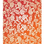 Orange & Cream Roses Printed Backdrop