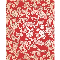 Red & Cream Roses Printed Backdrop