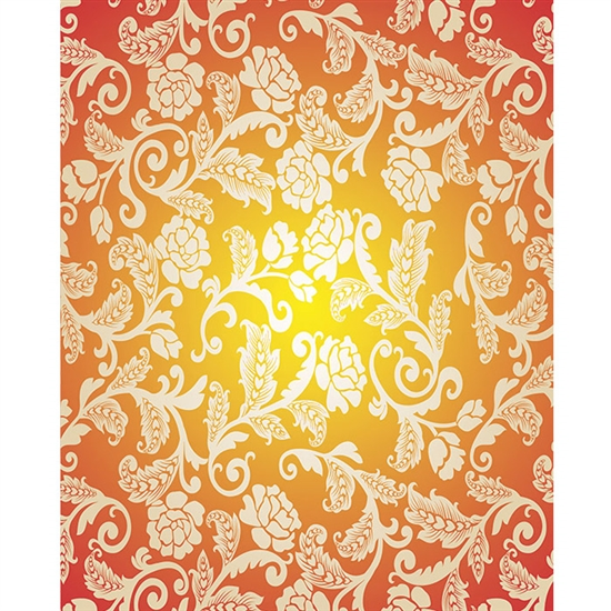 Yellow, Orange & Cream Roses Printed Backdrops