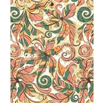 Orange & Green Floral Printed Backdrop