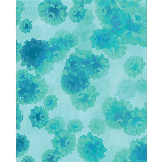 Blue Flowers Printed Backdrop