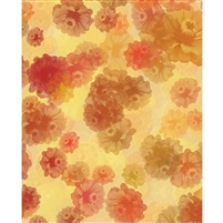 Yellow & Orange Flowers Printed Backdrop