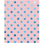 Teal Polka Dots Printed Backdrop