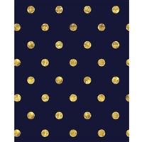 Gold Polka Dots on Navy Blue Printed Backdrop