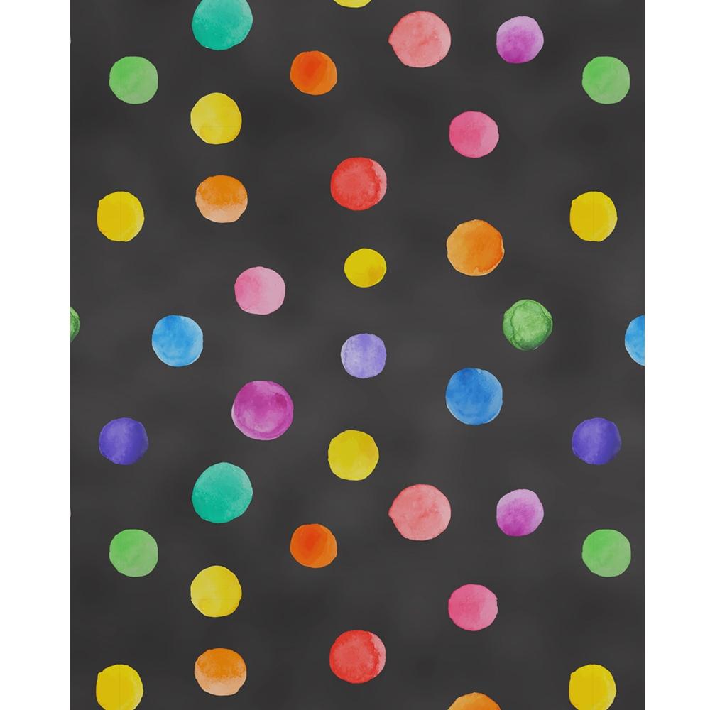Chalkboard Polka Dots Printed Backdrop Backdrop Express