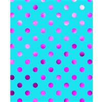 Magenta Polka Dots Printed Backdrop
