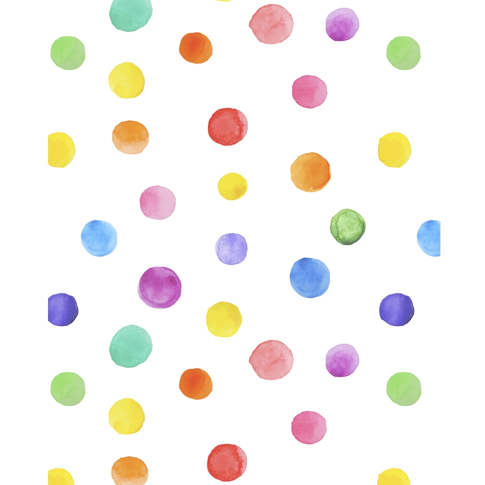 Watercolor Polka Dots Printed Backdrop Backdrop Express