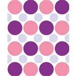 Pink, Purple & Gray Polka Dot Printed Backdrop