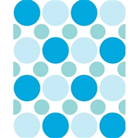 Blue, Gray & Green Polka Dot Printed Backdrop