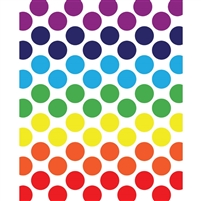 Rainbow Spectrum Polka Dot Printed Backdrop