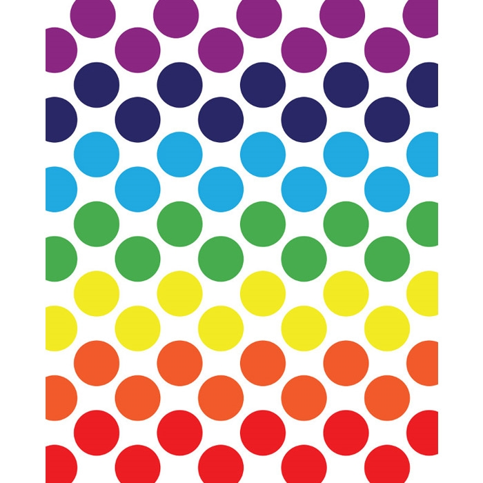 Rainbow Spectrum Polka Dot Printed Backdrop Backdrop Express