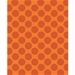 Orange Polka Dot Printed Backdrop