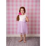 Light Pink Plaid Printed Backdrop