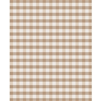 Brown Plaid Printed Backdrop