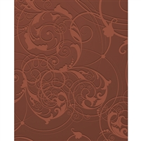 Brown Floral Swirls Printed Backdrop