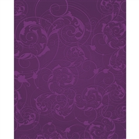 Purple Floral Swirls Printed Backdrop