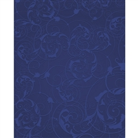 Navy Blue Floral Swirls Printed Backdrop