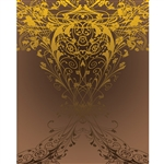 Brown & Gold Antique Vine Printed Backdrop