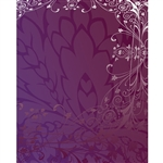 Purple Antique Vine Printed Backdrop