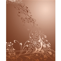 Carmel Brown Antique Vine Printed Backdrop