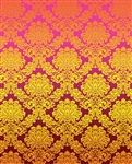 Pink & Gold Damask Printed Backdrop