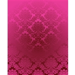 Hot Pink Damask Printed Backdrop