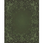 Green Antique Vine Printed Backdrop