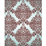 White & Maroon Damask Printed Backdrop