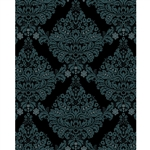 Black & Gray Damask Printed Backdrop