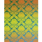 Blue & Yellow Damask Printed Backdrop