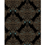 Light & Dark Brown Damask Printed Backdrop