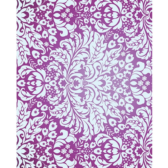 Purple Damask Printed Backdrop