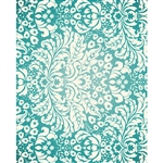 Teal Damask Printed Backdrop