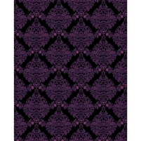 Black & Purple Damask Printed Backdrop
