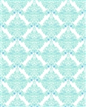 White & Blue Damask Printed Backdrop