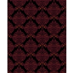Black & Red Damask Printed Backdrop