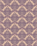 Brown & Purple Damask Printed Backdrop