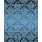Light Blue Damask Printed Backdrop